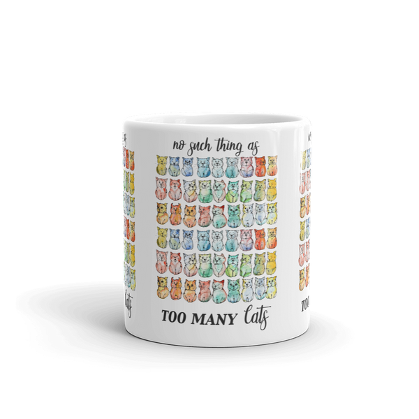 No Such Thing as Too Many Cats Mug - Gift for Cat Lovers - CatCottageDesign