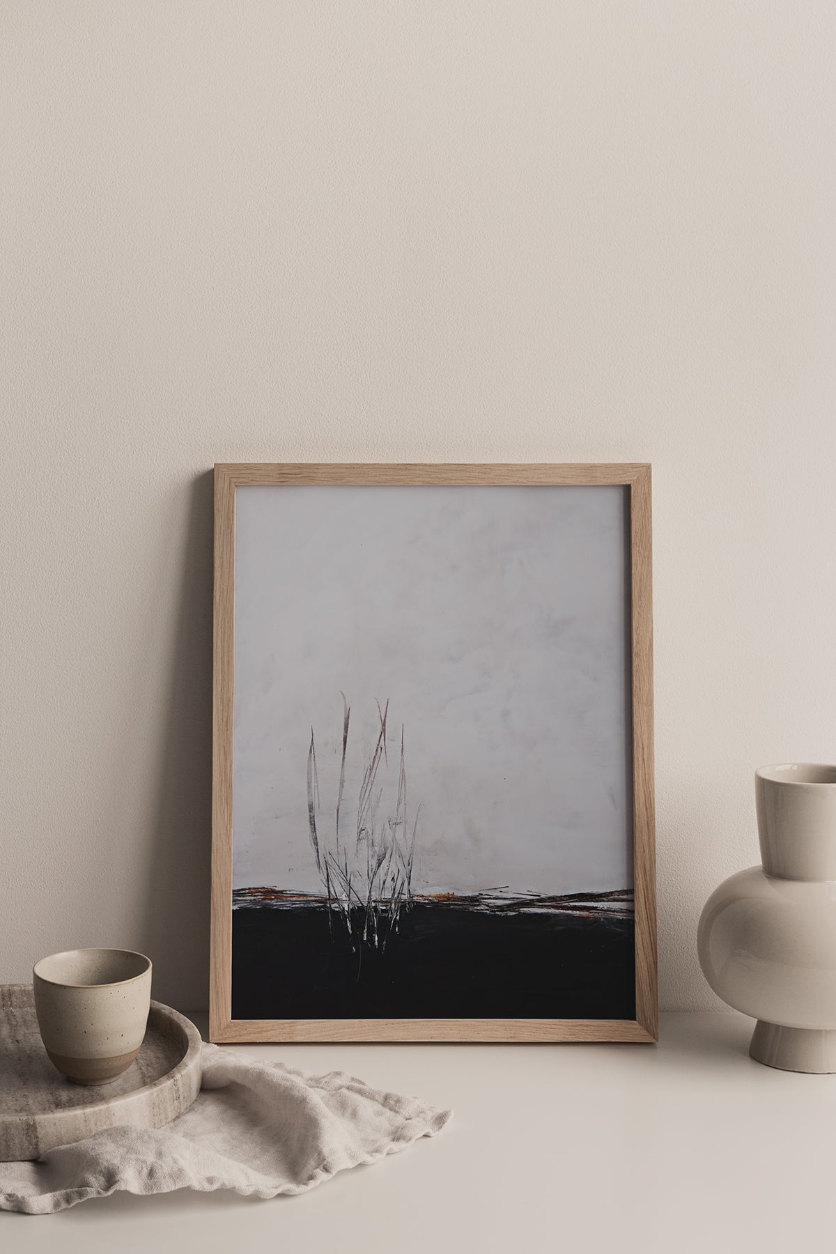 Hanlie Joubert | Calm | oil and cold wax on paper