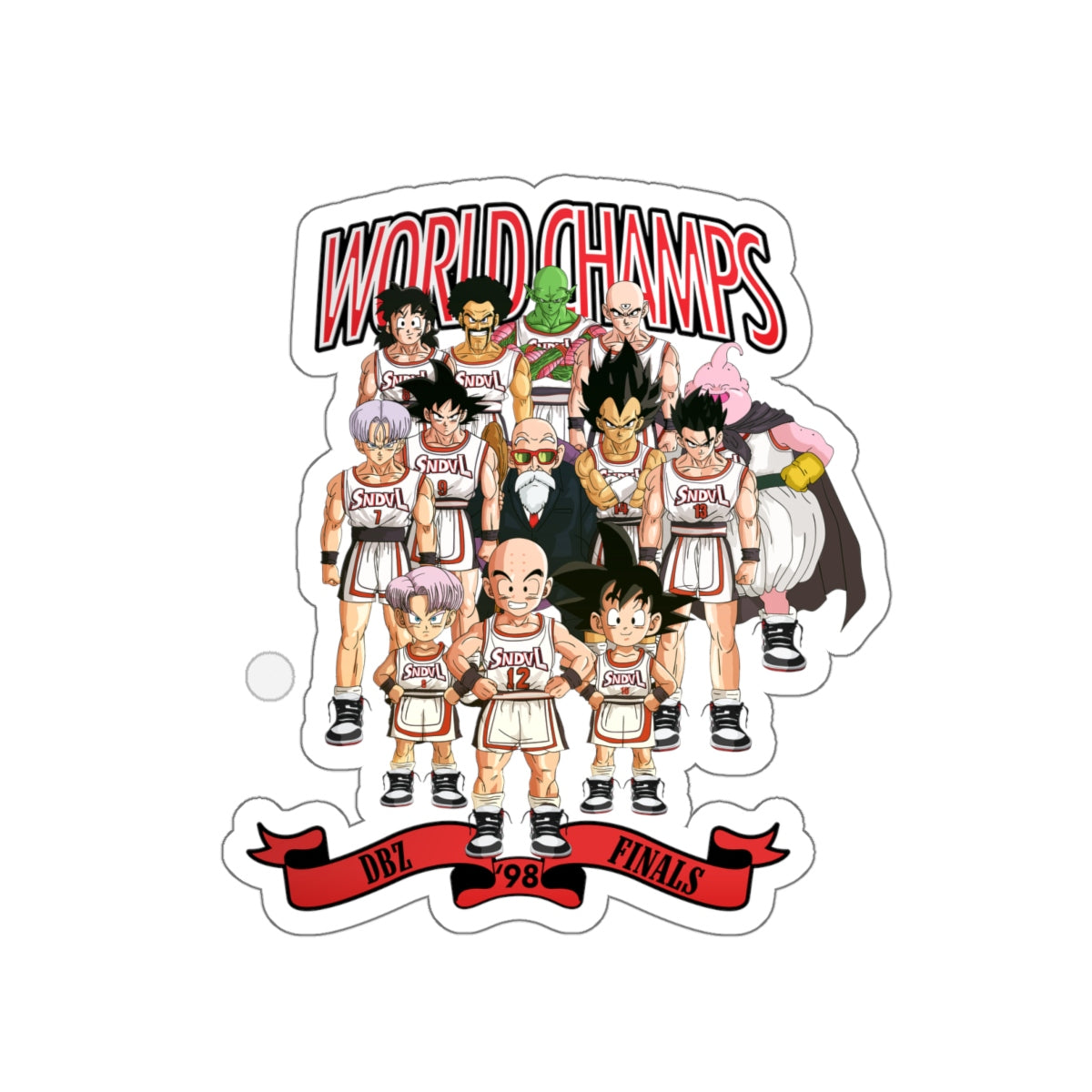 Winning Team Kiss-Cut Stickers
