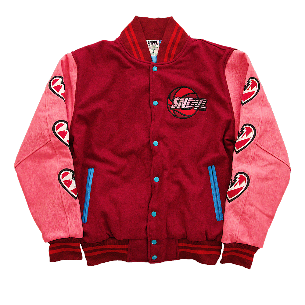 "Pre-Order: SNDVL ""Wearing My Heart On My Sleeve"" Varsity Jacket"
