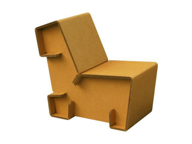 Flat pack Cardboard Comfy Chair