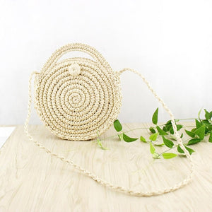 Straw Bag Woven Handbag Purse Crossbody Ladies Boho