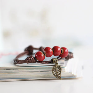 Simply hand-made  Ceramic Bracelets Beads boho style Women's Fashion Jewelry