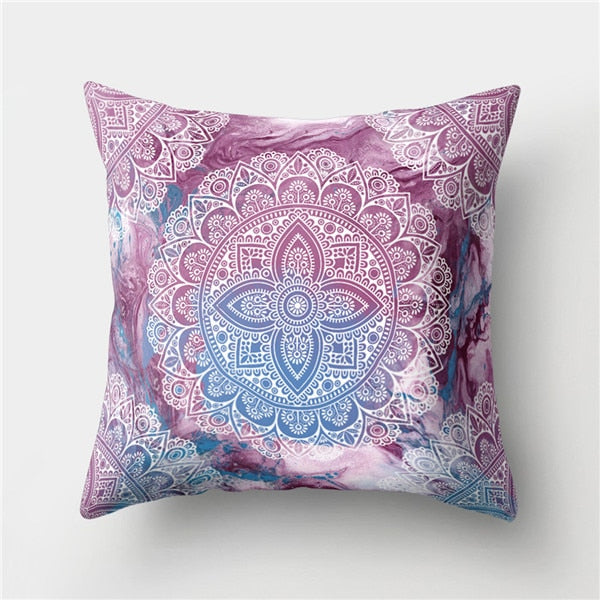 Creative Bohemian Boho Pillowcase Floral Cushion Pillow Case 45*45cm Neck Travel Pillow Cover