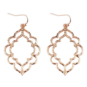 ZWPON 2018 Zinc Alloy Morocco Festival Springtime Filigree Earrings Women Inspirational Jewelry Mothers Day Gifts Wholesale