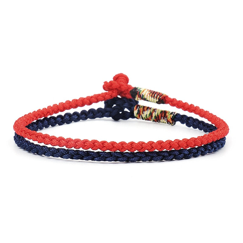 DIEZI Ethnic Dropship Couple Red Blue Bracelets For Women Men Lucky String Handmade Weave Cotton Rope Bracelets Boho Girls Gift