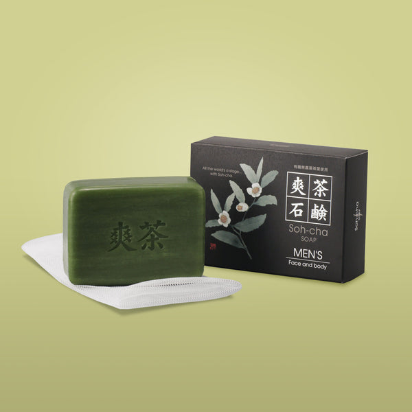 Soh-cha Green tea soap - for men 100g