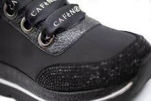 Load image into Gallery viewer, Cafe Noir Sneakers Υφασμάτινα με Strass - Μαύρα