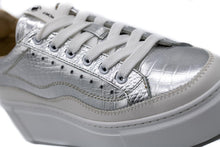 Load image into Gallery viewer, Janet & Janet Sneakers Δίπατα με Foil - Ασημί