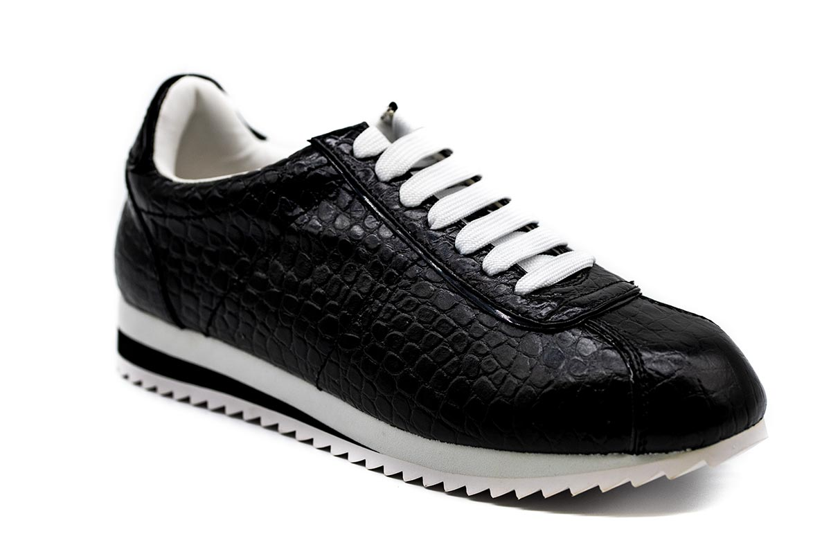Jeffrey Campbell Sneakers Δερμάτινα Croco - Μαύρα