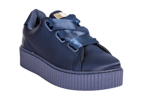 Windsor Smith Sneakers Μπλε Σατέν - OLIVIA