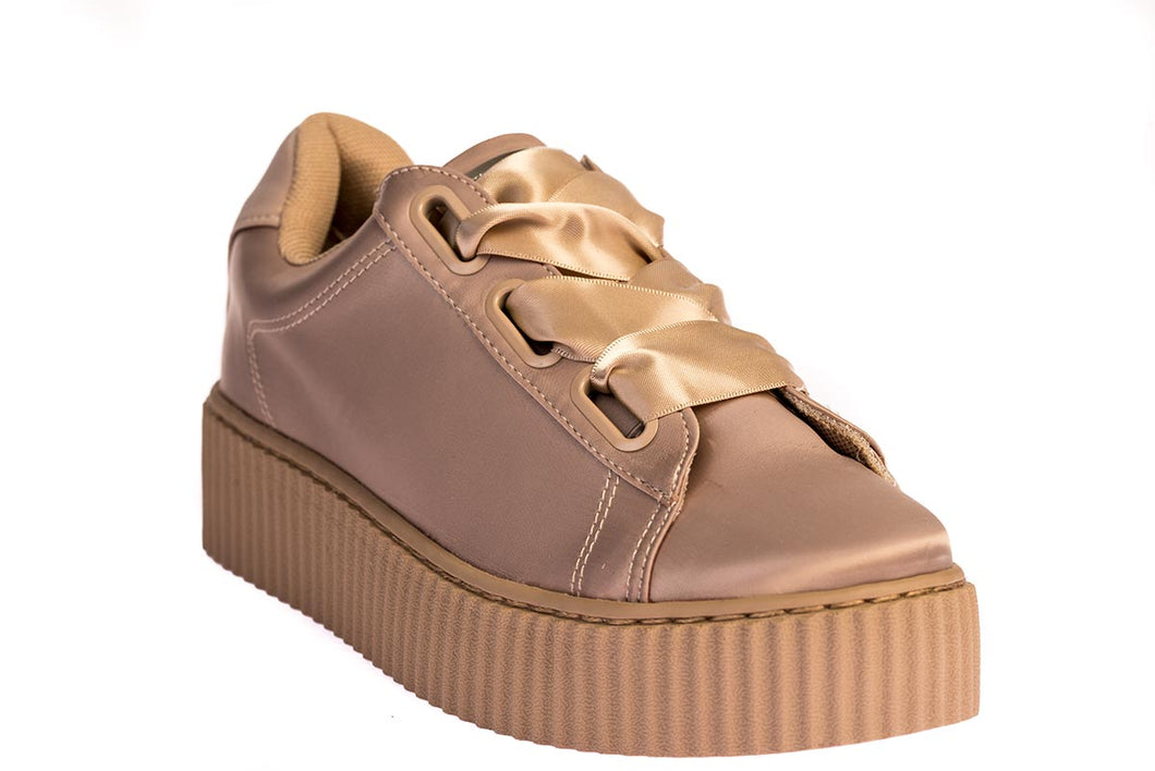 Windsor Smith Sneakers Nude Σατέν - OLIVIA