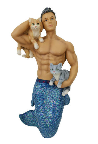 Merman Ornament Pet the Puss