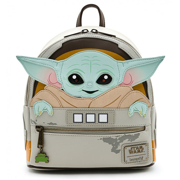 LOUNGEFLY STAR WARS MANDALORIAN CHILD CRADDLE MINI BACKPACK