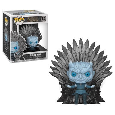 GOT S10 - Night King Sitting on Iron Throne