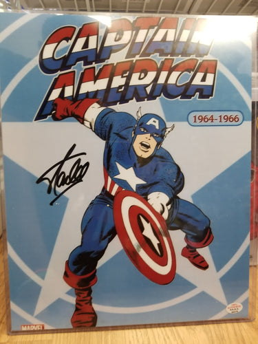 Signed: Stan Lee Captain America
