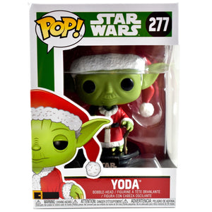 POP Star Wars: Holiday - Santa Yoda Open Eyes