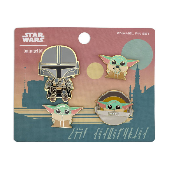 Loungefly Star Wars: Mandalorian 4 pc Enamel Pin Set