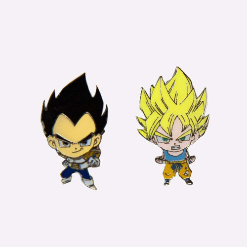 DBZ Super Saiyan Goku & Vegeta Pin set