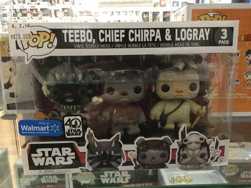 Pop! Star Wars: Teebo, Chief Chirpa & Logray 3 pack Walmart