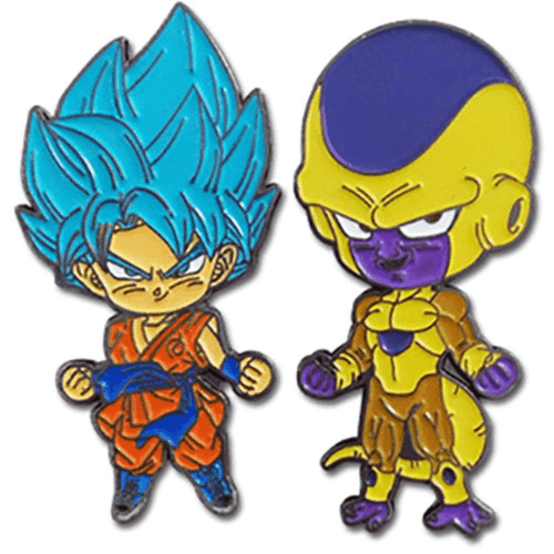 Dragonball Z Freza and Super Goku Pin