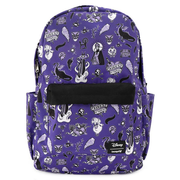 Loungefly Villian Icons AOP Nylon Backpack