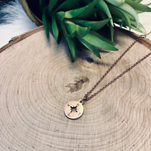 Rose Gold Compass Necklace