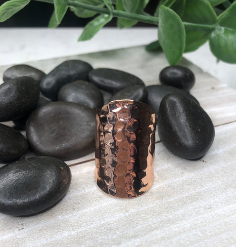 Hammered Rose Gold Ring