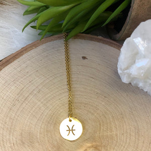 Gold Pisces Necklace