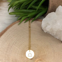 Gold Libra Necklace