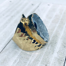 Gold Natural Geode Ring