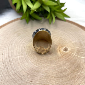 Black Faceted Ring