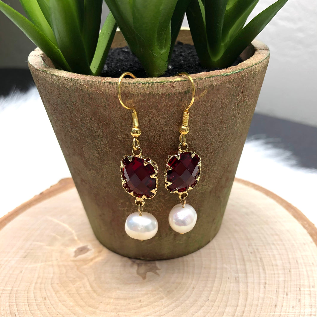 Dainty Red Earrings
