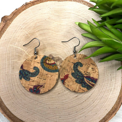 Round Paisley Earrings