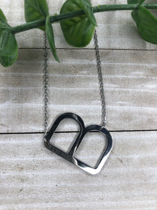Silver B Initial Necklace
