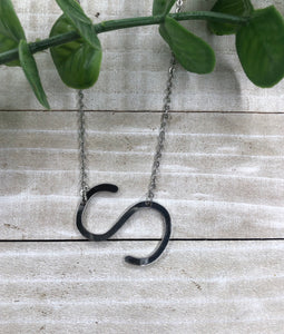 Silver S Initial Necklace