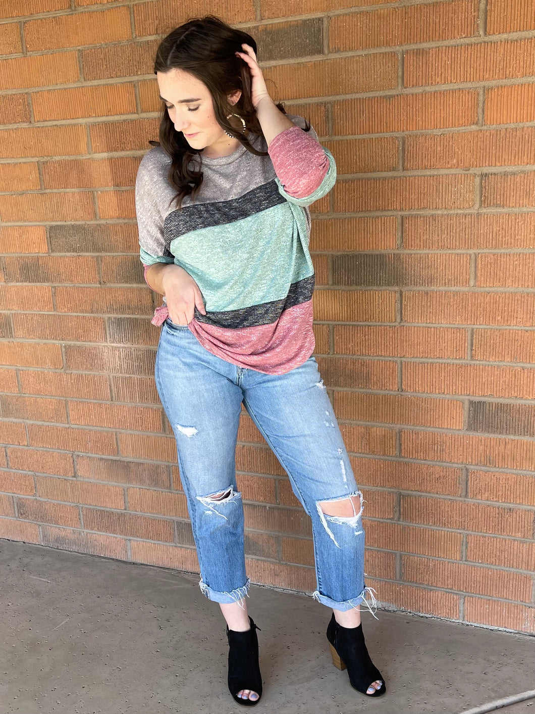 Isabel Color Block Top