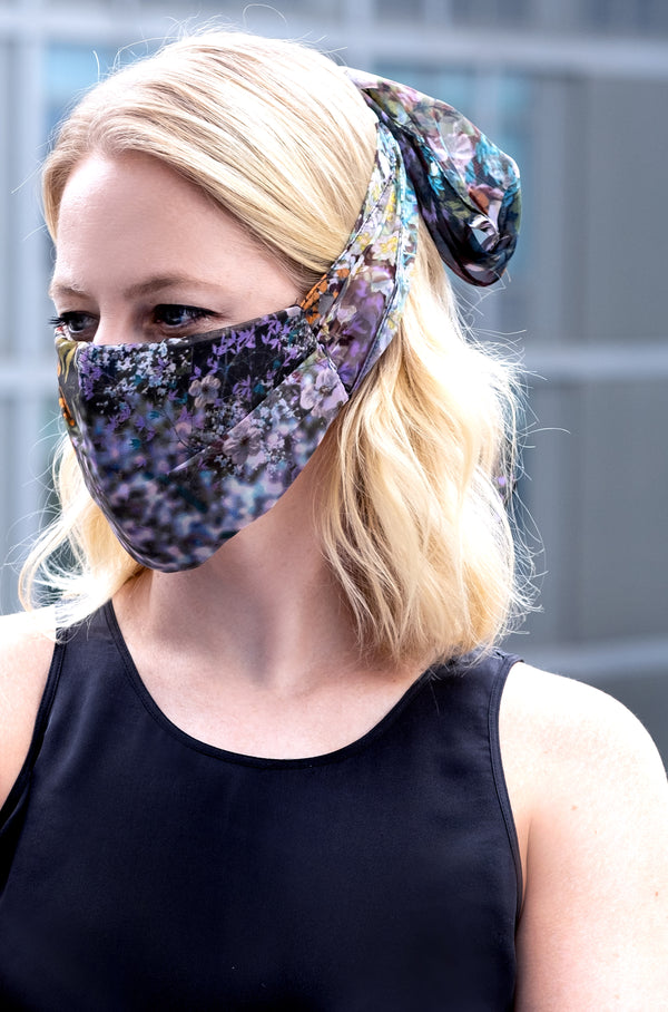 CHIFFON MASK WITH SCARF ELASTIC