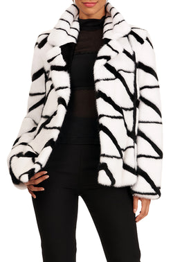 MINK NOTCH COLLAR JACKET