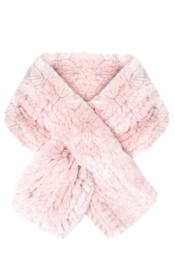 PULL THROUGH FUR KNIT SCARF