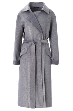 METALLIC CASHMERE TRENCH