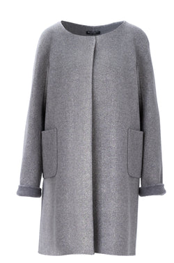 METALLIC CASHMERE COAT