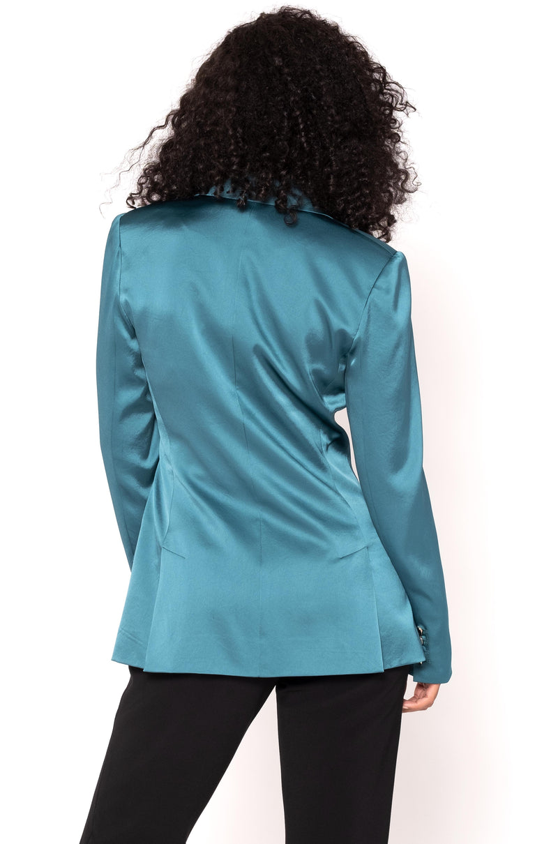 STRETCH SATIN BLAZER