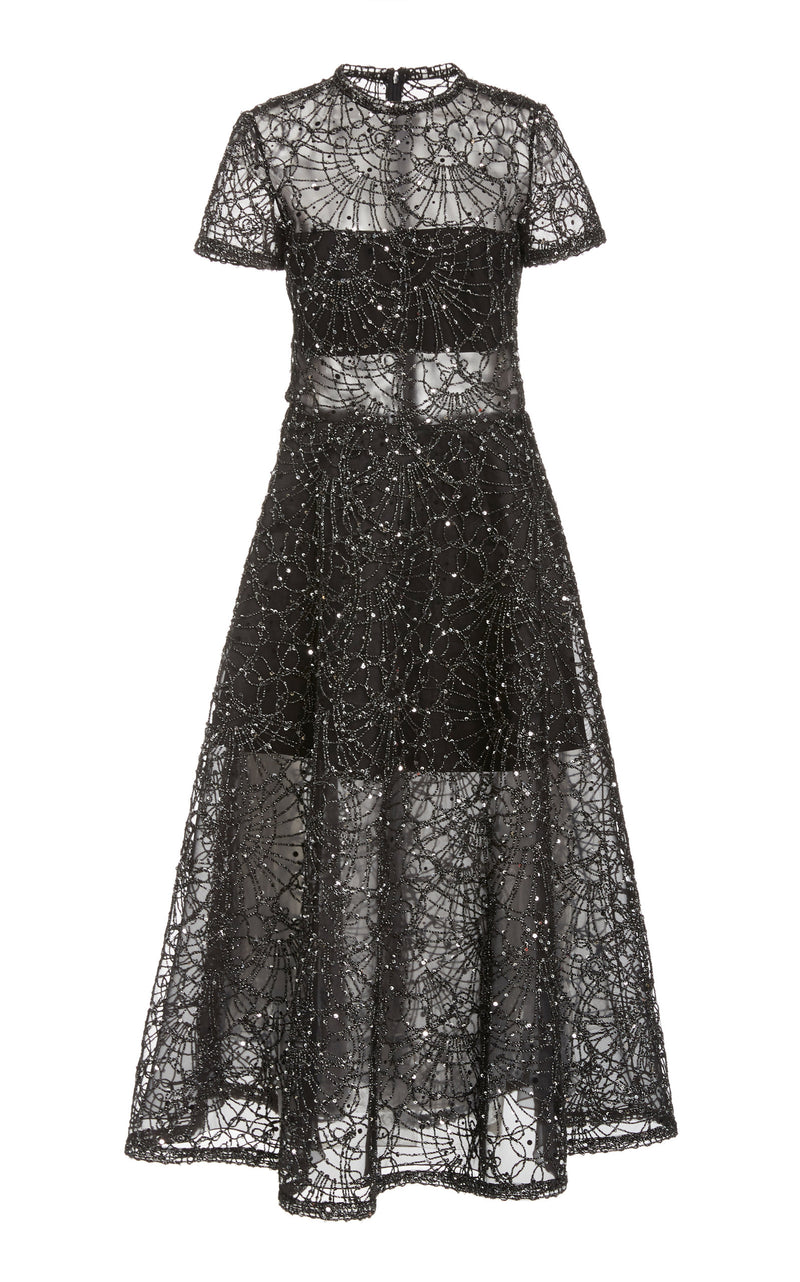 Sequined Mesh Dress