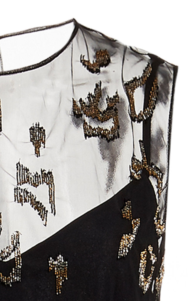 Cheetah Embroidered Asymmetrical Top