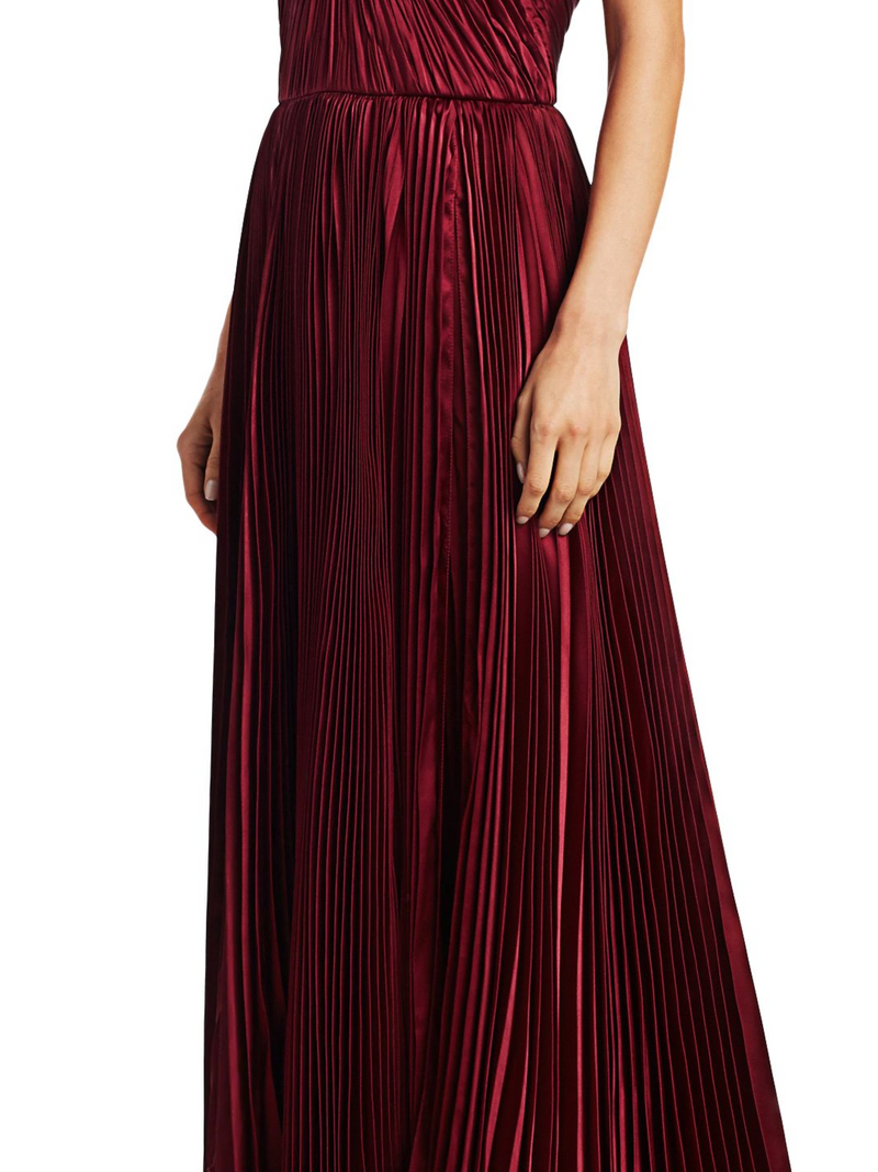 Pleated Tiered Gown