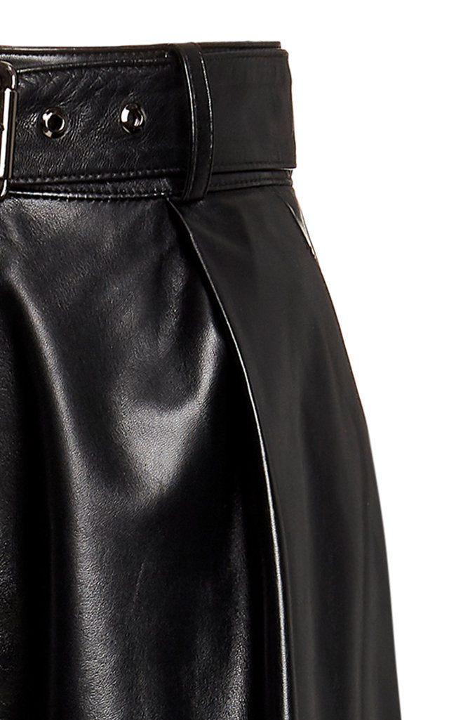 Leather Buckle Trouser