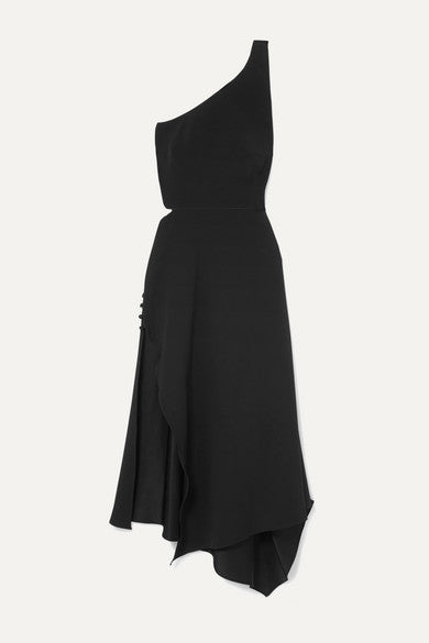 Asymmetrical Crepe Dress