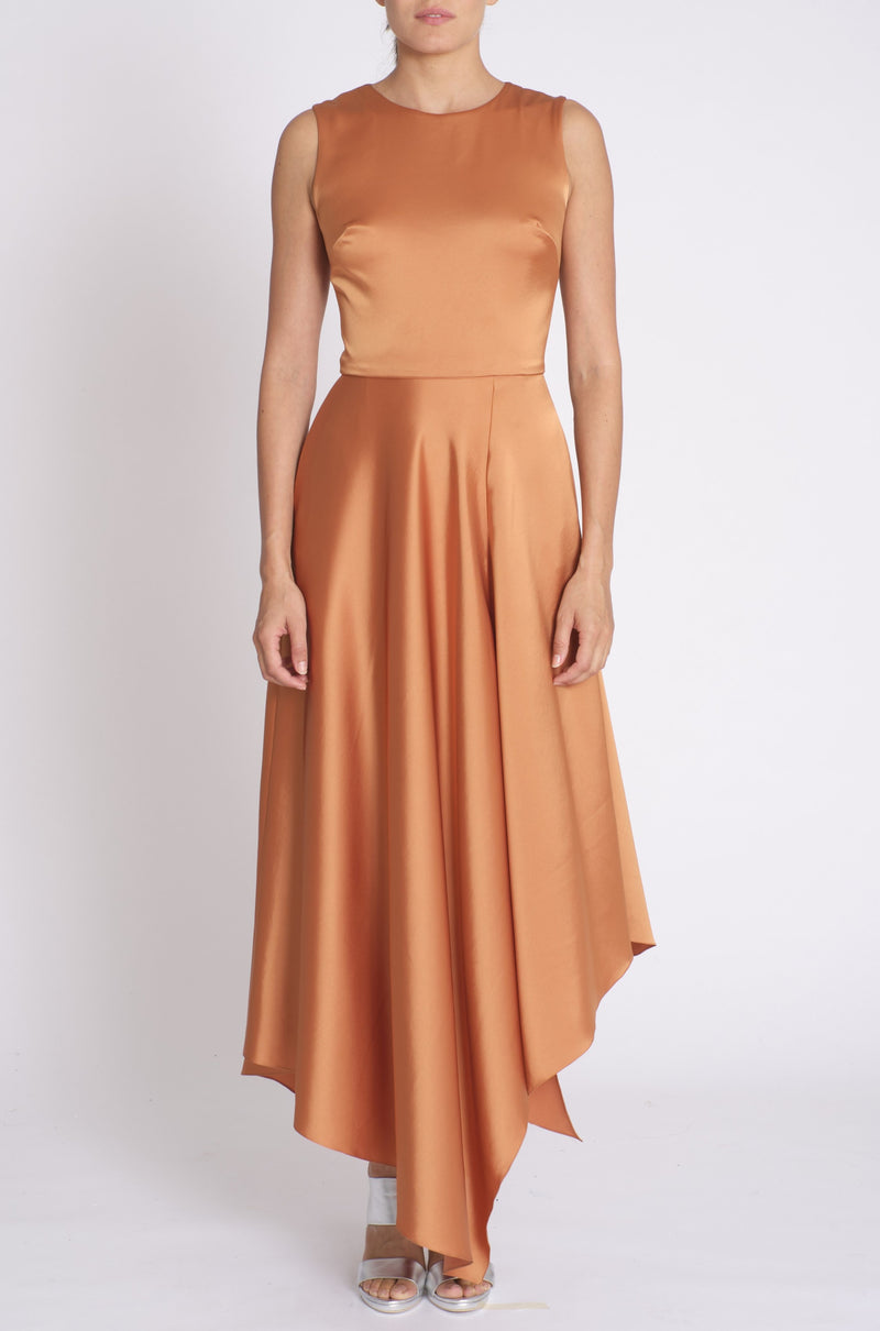 Satin Asymmetrical Dress