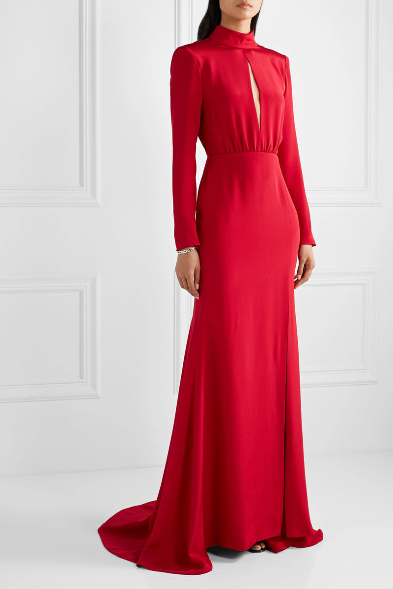 Crepe Keyhole Gown